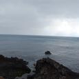 ソプチコジの海岸 左は九州方面