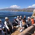 チチカカ湖のトトラ船