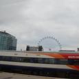ロンドン・アイの観覧車が見える