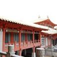 建物の梁は飛鳥・奈良様式の雰囲気