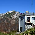 展望台と谷川岳