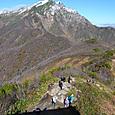 天神峠から谷川岳への登山路