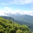 眺望が利く ガスが晴れた 南八ヶ岳連峰