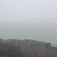 雪曇りでボスポラス海峡が見えない