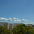 空の青さと雲が素晴らしい