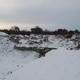 雪に埋もれるトロイ(トロイア)遺跡