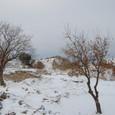雪で海岸が見えない