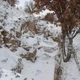 各層が見えるハズ、雪で駄目