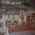本殿壁には絵巻物が描かれている