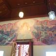 本堂入り口上部の仏画(ラーマーヤナ)