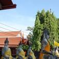 寄進された黄色の衣を纏う仏像
