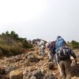 安達太良山頂が見えました