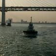 追尾するタグボート